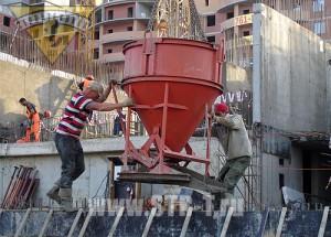Укладка бетонной смеси бадьей купить диск по армированному бетону