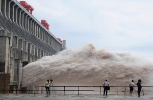 Спуск воды ГЭС Цзиньпин-1