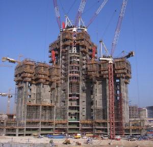 Опалубочные системы первых этажей Шпиль башни Бурдж Халифа