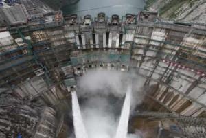 ГЭС Цзиньпин-1 в опалубке